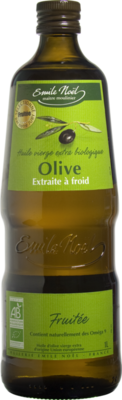 Huile olive vierge extra bio fruitée 1l