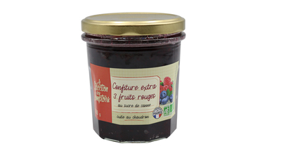 Confiture extra 3 fruits rouges bio