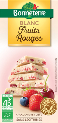 Chocolat blanc fruits rouges
