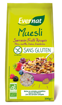 Muesli sarrasin fruits rouges sans gluten
