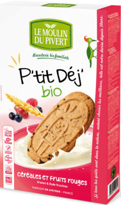 Biscuits p'tit dej céréales fruits rouges