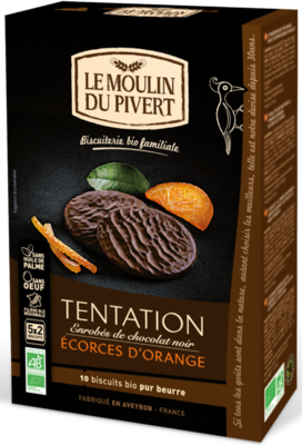 Biscuit tentation orange enrobé chocolat