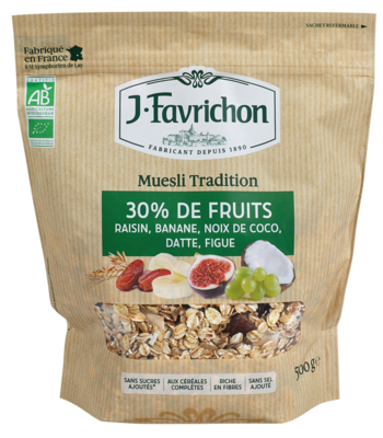 Muesli tradition 30 % de fruits