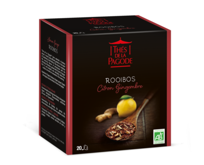 Rooibos citron gingembre bio 20 infusettes