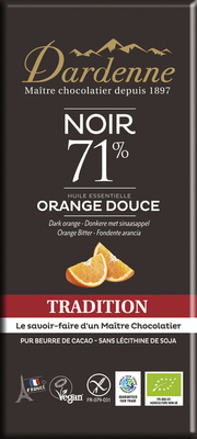 Chocolat noir 71% orange douce 70g