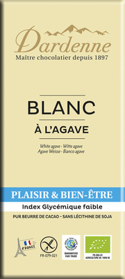 Tablette chocolat blanc fructose 100g